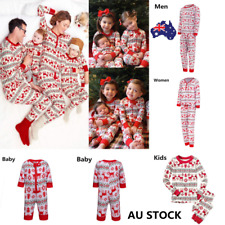 AU Family Matching Christmas Pajamas Set Women Men Baby Kids Sleepwear Nightwear