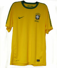 Nike Brasil Brazil Soccer Football Authentic Yellow Used L Jersey MINT CONDITION