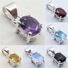 925 Sterling Silver Lightweight 4 Prong Pendant ! Affordable Wedding Jewelry