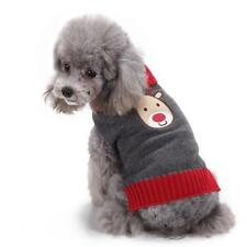 Dog Puppy Reindeer Christmas Clothes Winter Knitted Sweater Apparel Pet Gift
