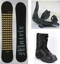 """NEW MATRIX """"LINES"""" SNOWBOARD, BINDINGS, BOOTS PACKAGE - 150cm"""