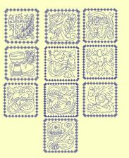 Easter Bluework & Trapunto Machine Embroidery CD-40 Designs-By AnemoneEmbroidery