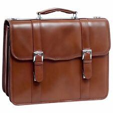 McKlein USA FLOURNOY V Series Double Compartment Leather Briefcase