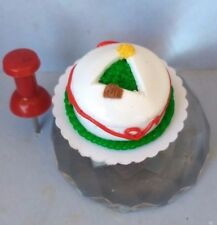 OOAK 1/12 Scale Miniature Christmas Cut Out Tree Cake by C Strong