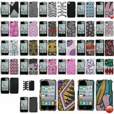 Color Bling Rhinestone Diamond Hard Case Cover Accessory For iPhone 4 4S 4G Gen