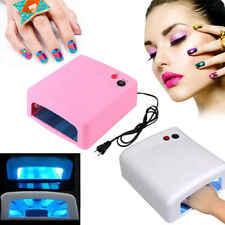 Pro Polish Dryer Nail Lamp 36W LED UV Gel Acrylic Curing Light Spa Kit w 4 Tubes