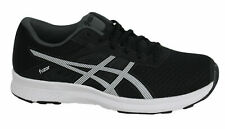 Asics Fuzor Lace Up Black White Synthetic Womens Trainers T6H9N 9001 D59