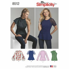 Simplicity SEWING PATTERN 8512 Misses & Petite Tops 6-14 Or 14-22