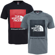 The North Face Men's T-Shirt Red Box Shirt Upper Part Red Label S M L XL XXL NEW