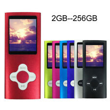 Portable 2GB - 256GB MP3 MP4 Player LCD Screen FM Radio Video Games Movie Lot