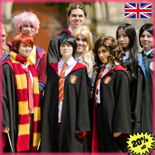 Harry Potter Cosplay Costume Gryffindor Ravenclaw Robe Cape Cloak Tie Scarf+Gift