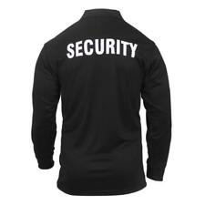 Rothco Moisture Wicking Long Sleeve Security Tactical Performance Polo, Black