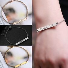 DIY Personalized Custom Engraved Silver Stainless Steel Bracelet Jewelry Gift