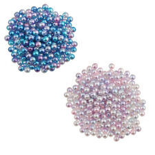 100Pcs New 8mm Colored Imitation Pearl ABS Plastic DIY Loose Beads Findings