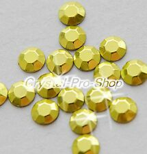 Yellow Iron On Faceted Hot Fix Rhinestud Aluminium Craft Shine 2mm 3mm 4mm 5mm