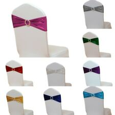 10pcs Lycra Spandex Chair Cover Bands Back Buckle Wedding Party Banquet Decor