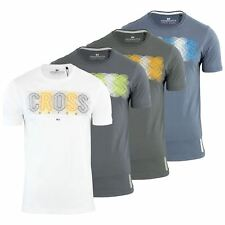 Crosshatch Electro Mens T Shirt Cotton Printed Graphic Crew Neck Casual Top