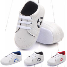 Toddler Baby Boy Girl Soft Sole Crib Shoes Anti-slip Prewalkers Lace-Up Sneakers