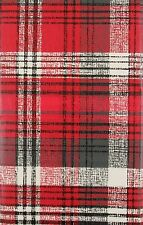 ASST SIZES Vinyl Christmas Tablecloth PLAID Red White Green Holiday PRETTY!
