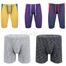 Men's Compression Boxer Shorts Stretch Tights Running Athletic Gym Sports Pants