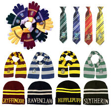 Harry Potter Cosplay Scarf Tie Gloves Sock Badge /Hufflepuff/Slytherin/Ravenclaw