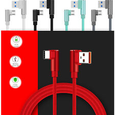 ACALI 1M 90 Degree Elbow Aluminum Type-C/IOS/Micro USB Charger Data Sync Cable