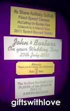 Engraving plate plaque 70mm x (your choice height) including engraving