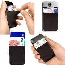 Silicone Cell Phone Wallet Case Credit ID Card Holder 3M Adhesive