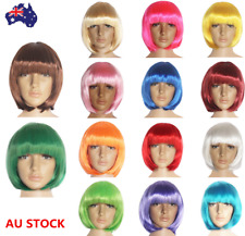 15 Colors Women Short Boho Straight Hair Cosplay Costume Party Anime Full Wigs