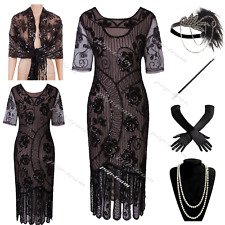 Womens 1920s Costume Flapper Gatsby 20s Party Prom Evening Cocktail Dress 4-18