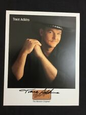 Trace Adkins Autographed 8x10 Wrangler Color Photograph Guaranteed Authentic