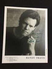 Randy Travis Autographed 8x10 Talent Agency Photograph Guaranteed Authentic
