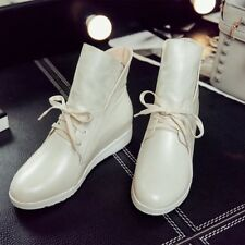 Vogue Womens Lace up High Wedge Hidden Ankle Boots Sport Sneakers Shoes
