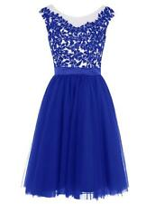 Women's A-line Party Cocktail Dresses Short Lace Tulle Homecoming Prom Gown