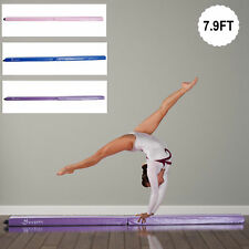 8FT Folding Floor Balance Beam Foam Gymnastic Training Low Height Beam 3 Color