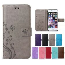 Womens Magnetic Flip Silicone Flower Leather Shockproof Case Cover For iPhone Y