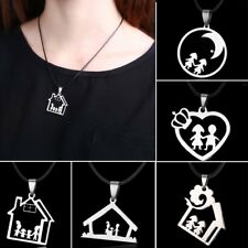 Fashion Family Mom Dad Sister Heart Lover Home Necklace Pendant Jewelry Gift New