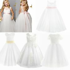 Flower Girl Dress Princess Vintage Special Occasion Party Wedding IVORY LACE