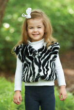 Mud Pie Baby ZEBRA FAUX FUR VEST 190169 Wild Child Collection
