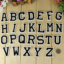 Alphabet Letter A-Z Embroidered Iron On Patch Sew Motif Applique Sticker Eyeful