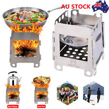 Portable Ultralight Backpacking Outdoor Camping Cooking Picnic Fold Wood Stove