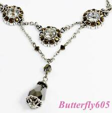 Brighton MOONSTRUCK Crystal Faceted Necklace - NWOT