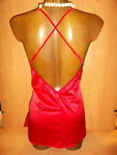 Babydoll Dress Implicite de Simone Perele Red Color Model Talisman Size 4