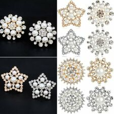 Chic Crystal Pearl Flower Star Brooch Pin Women Jewelry Family Mother's Day Gift