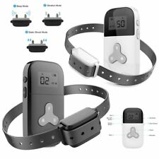 Dog No Barking Anti Bark Training Shock Collar Rechargeable Electric Remote Pet