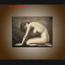 Handpainted Modern Art Nudes Sexy Girl Oil Painting on Canvas Wall Decor Art R37