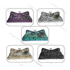 Sequins Beaded Evening Prom Clutch Bag Bridal Wedding Party Purse Makeup Case