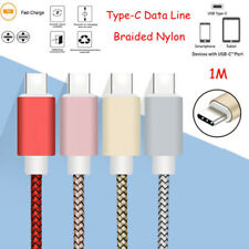 1M USB Type-C Fast Charging Cable Data Sync Power Cord Transfer Charger Adapter