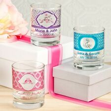 60 Personalized Label Glass Shot Glasses Or Votive Candle Holder Party Favors