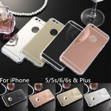 Luxury Ultra Thin Mirror Metal Soft Case For Apple iPhone 5 5s 6 7 Plus 6s SE